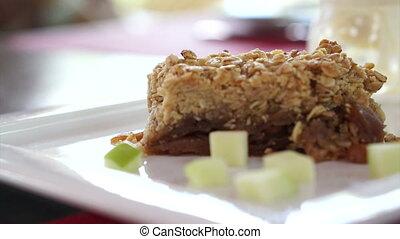 Apple Pie crumble with ice cream - Apple Pie crumble freshly...