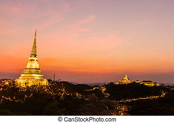 Phra Nakhon Khiri festival on sunset at Phetchaburi -...