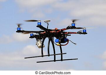 Hexacopter in flight