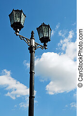 streetlamp - Vintage streetlamp over blue sky