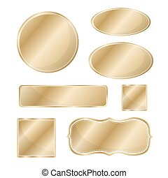 Blank metallic icon set bronze
