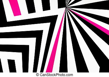 black and white abstract regular geometric fabric texture...
