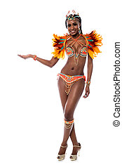 Participants enroll your name here. - Samba dancer woman...