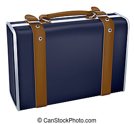 luggage - drawing of beautiful luggage in a white background