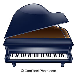 piano - drawing of beautiful piano in a white background