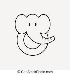 toy elephant icon