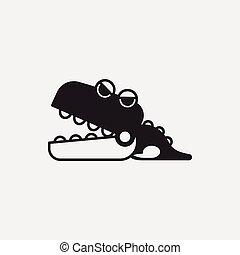 toy crocodile icon