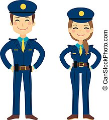 Cute Police Agents - Cute police man and woman agents...