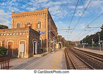 ancient train station in Castiglion