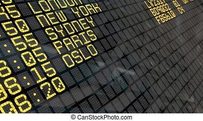 4K - Airport Departure Board