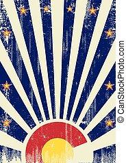 Colorado vintage sunbeams - A vintage colorado poster with...