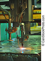 Industrial Laser cutting naval parts