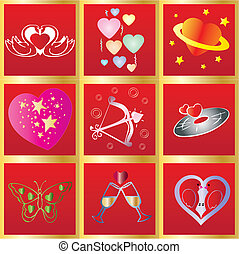 Valentine Background7 - February 14th greetings card, vector...