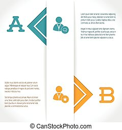 Infographic design with options and their description