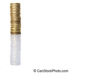 Malaysian Coins - Malaysian coins over white background