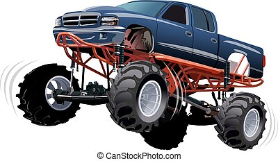 Monster Truck. Available EPS-10 separated by groups and...