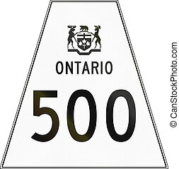 Ontario Highway Shield 500 - Canadian highway shield of...