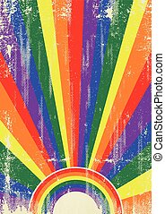 Gay vintage sunbeams - A vintage gay poster with sunbeams...