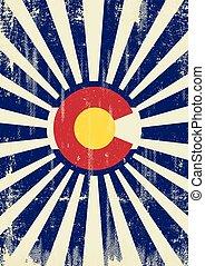 Colorado retro sunbeams - A vintage colorado poster with...