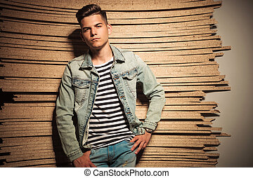cool fashion young man looking relaxed