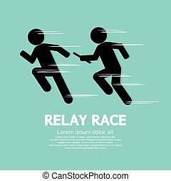 Relay Race. - Relay Race Vector Illustration.