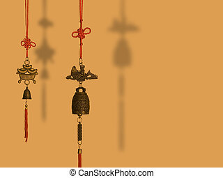 Feng Shui Charms hanging - Two Chinese fengshui charms...