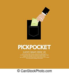 Pickpocket - Pickpocket Vector Illustration