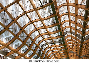 roof structure - detail of modern wood roof structure