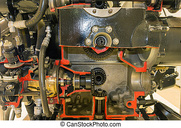 piston aircraft engine - detailed exposition of the old...