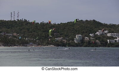 Kitesurfing on island Boracay and Bulabog