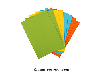 Multicolor Envelopes - Close up detailed top view of heap of...