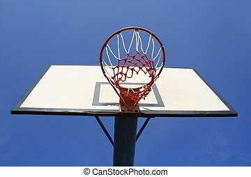 backboard in the blue sky, taken in the good weather.