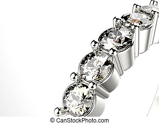 Ring with Diamond Jewelry background