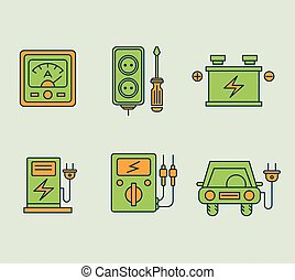 Ecological Icons Set - Ecological icons set, Eco, bio and...