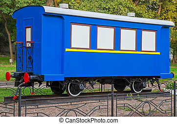 Vintage rail car - Old passenger train or rail car at...