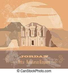 Jordan infographics, statistical data, sights. Vector...