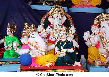 Ganesha Couple - A rare idol of Lord Ganesh with his wife...