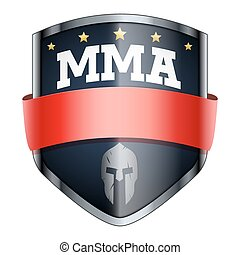 MMA Fights Shield badge. The symbol of the sports club or...