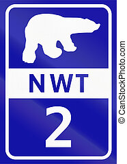 Northwest Territory Highway 2 - Shield of Northwest...