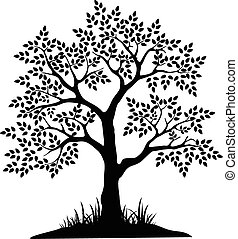 tree silhouette for you design - vector illustration of tree...