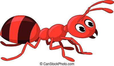 red ant cartoon - vector illustration of red ant cartoon