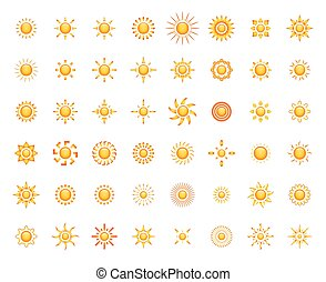 Sun symbols set for you design - vector illustration of Sun...