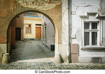 Gateway - One of Gateways in the Old City of Szekesfehervar,...