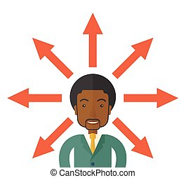 Black guy with too many arrows.