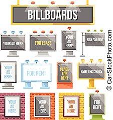 Flat billboards,outdoor advertising