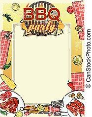Barbecue feestje uitnodiging varkensvlees ontwerp stock foto beelden 296 barbecue feestje - Barbecue ontwerp ...