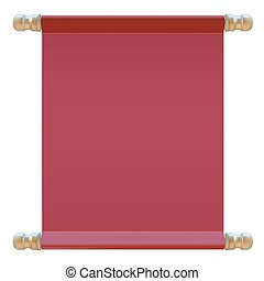 Sign of the red cloth. Vector illustration