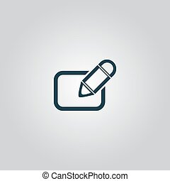 Registration icon, vector illustration.