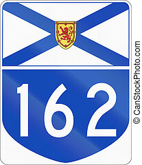 Nova Scotia Highway 162 - Route marker for Nova Scotia...