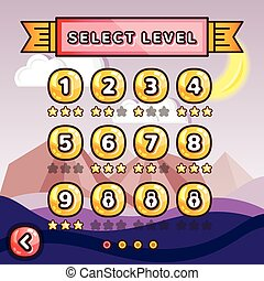Level selection screen Canyon - Level selection screen...